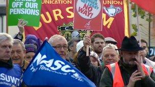 Protesters in Stoke