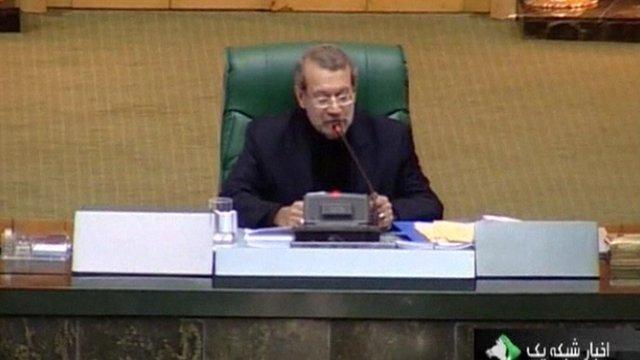 Iranian parliament speaker: Ali Larijani.