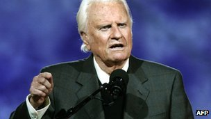 Evangelist Billy Graham at Flushing Meadows Park 24 June 2005