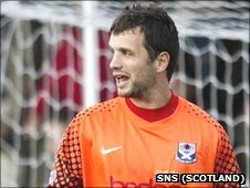 Ayr keeper Kevin Cuthbert