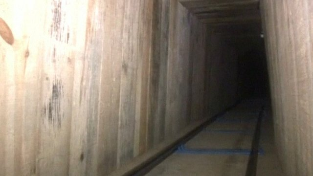 Drug tunnel in Mexico