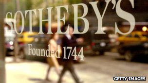 Sotheby&#039;s sign