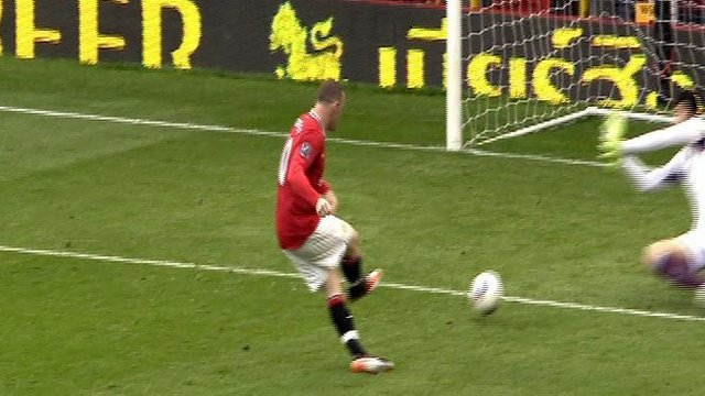 Wayne Rooney scores for Man United