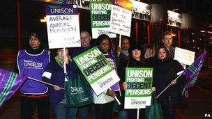Health workers out on strike at midnight from the Birmingham Women's Hospital