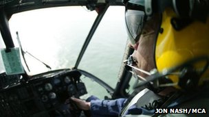 Maritime and Coastguard Agency helicopter pilot. Pic: Jon Nash/MCA