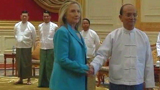 Hilary Clinton in Burma
