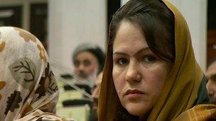 Fawzia Koofi, member of parliament in Afghanistan