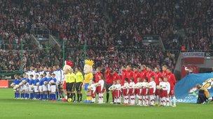 Poland play Italy at Wroclaw (Nov 2011)