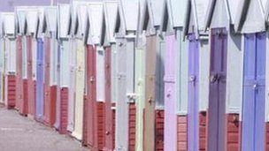 Generic beach huts
