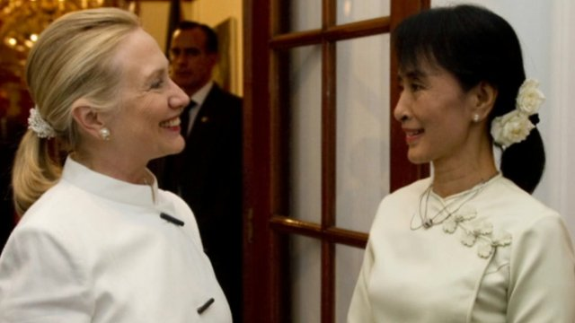 Hillary Clinton and Aung San Suu Kyi