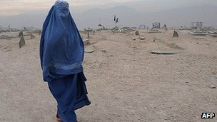 Afghan woman in Kabul (file image)