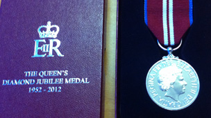 Close up of medal
