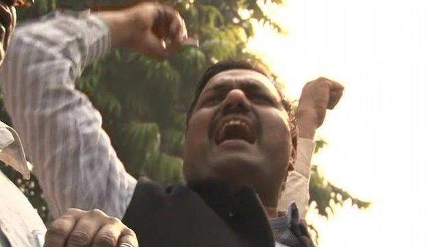 Indian protester against retail FDI