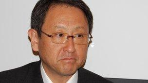 Mr Toyoda looking decidedly glum