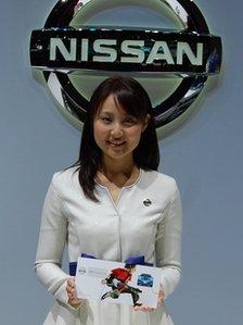 Glamorous Nissan employee