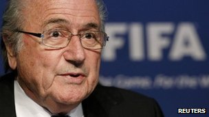 Fifa President Sepp Blatter in Zurich, Switzerland - 30 November 2011