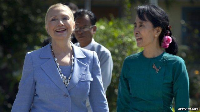 Hillary Clinton and Aung San Suu Kyi