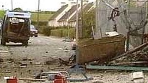 Loughgall after IRA attack