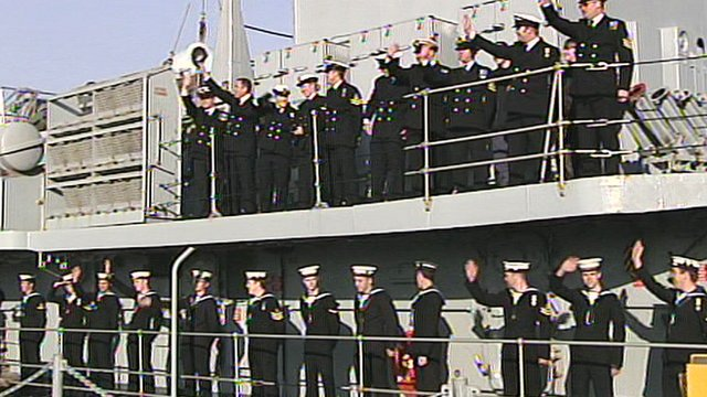 Royal Navy crews return to Portsmouth