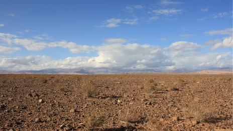 Desert near Ouarzazate, Morocco
