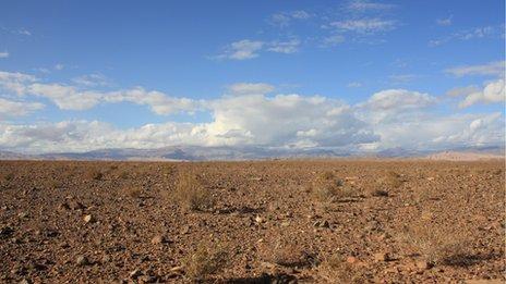 Desert near Ouarzazate, Morocco