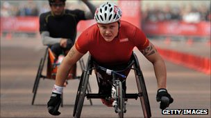 British Paralympic athlete David Weir
