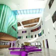 Artist's impression of inside new Inverness College UHI