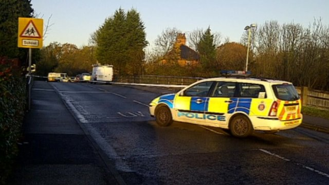 Two people were left shaken after a block went through a windscreen by Fryerning Lane bridge