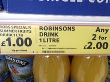 Tesco price sign