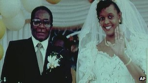 Robert and Grace Mugabe (file image from 1996)