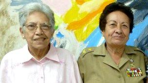 Nidia Sarabia and Brig-Gen Tete Puebla