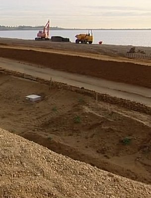 New dam being built in Essex, South-East England (Image: BBC)