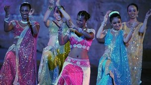 Indian dancers at a Bollywood show
