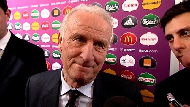 Giovanni Trapattoni reflects on the Euro2012 draw