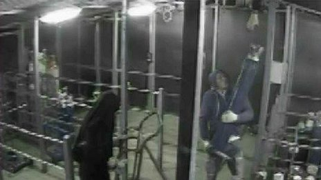 CCTV of an incident in October