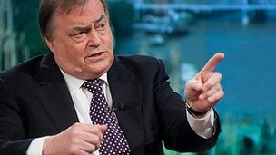 Lord Prescott appearing on the Andrew Marr Show
