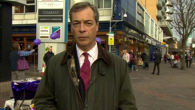 Nigel Farage, leader of the UK Independence Party