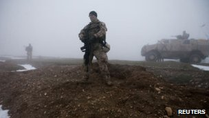An Isaf soldier in Afghanistan (file photo)
