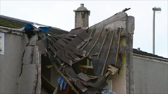 House damaged by car in Nelson, near Caerphilly