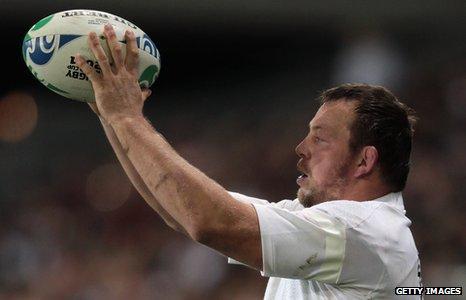 England hooker Steve Thompson