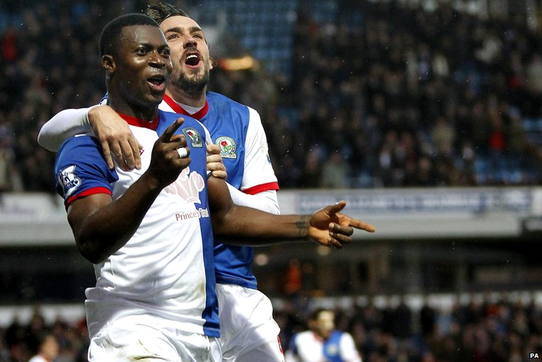 Yakubu celebrates with Givet