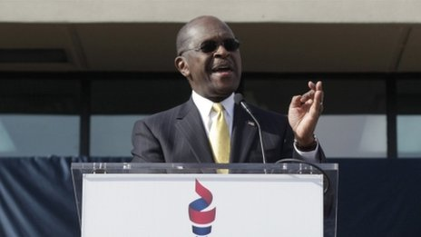 Herman Cain announcing the suspension of his presidential campaign (3 December 2011)