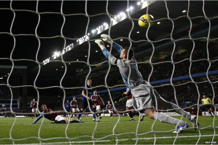 Phil Jones scores at Villa Park for Manchester United