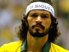 Former Brazil player Socrates