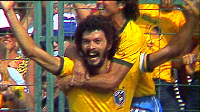 Socrates celebrates in 1982