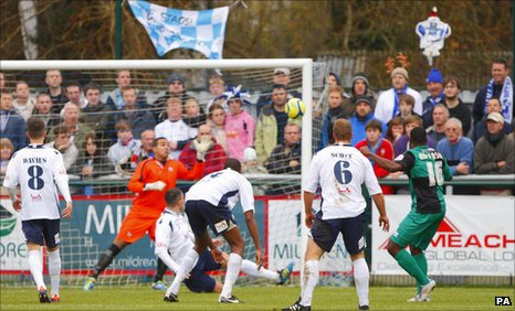 Joe Anyinsah scores Bristol Rovers' opener