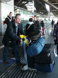 Glenn Campbell at airport