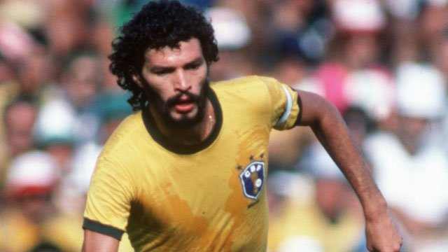 Socrates in action for Brazil