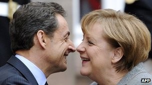 German Chancellor Angela Merkel (right) and French President Nicolas Sarkozy, 24 Nov 11