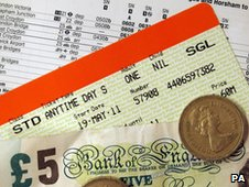 Train Ticket, Timetable, and Money